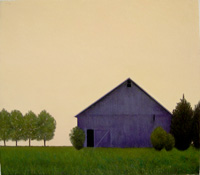 Purple Barn Orange Sky