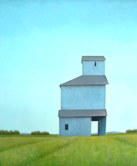 Pale Blue Grain Elevator